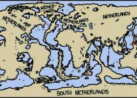 没有海水的世界地图是什么样的