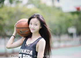 打篮球的小清新女神,因为你爱上篮球